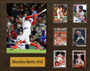 Mookie Betts, Boston Red Sox, 16x20 Plaque - 8x10 Action photo and 6 baseball cards