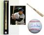 Al Kaline Bundle - 1 HOF Logo Baseball, 1 - Rawlings Name Model Bat and Bat/Ball Dual Display case