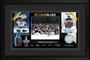"""St. Louis Blues Framed 10"""" x 18"""" 2019 Stanley Cup Champions Photo Collage with a Piece of Game-Used Net"""