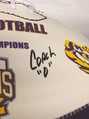Coach Ed Orgeron Autographed LSU 125 Seasons Football