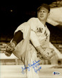 "Johnny Vander Meer Cincinnati Reds Autographed 8x10 Photo inscribed ""6/11/38 6/15/38"" Beckett BAS"