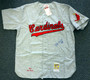 "Stan Musial HOF Autographed in Blue St. Louis Cardinals Gray Mitchell & Ness Jersey ""HOF 69"" Size 52 PSA/DNA"