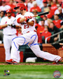 David Freese Autographed 8x10 Action Swing Photo