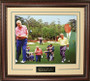 """Arnold Palmer """"50 Years"""" Masters Collage 16x20 Photo Premium Leather Framing & V-Groove Matting"""