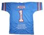 Warren Moon Autographed Jersey - Houston Oilers Custom inscribed HOF 06