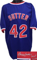 """Bruce Sutter Chicago Cubs signed Blue Throw Back Custom Stitched Jersey """"HOF 2006"""" XL"""
