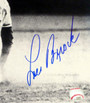 Lou Brock Autographed Photo - St. Louis Cardinals 16x20 B&W Sliding PSA/DNA