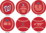 Washington Nationals World Series Champions Fully Licensed 3-Ball Set with Case