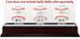 Washington Nationals Logo 3-Ball Mahogany Display Case