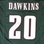 Brian Dawkins Autographed Jersey - Philadelphia Eagles Green Custom Beckett BAS