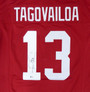 Tua Tagovailoa Autographed Jersey - Alabama Crimson Tide Red Custom Beckett/BAS