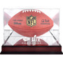 Kansas City Chiefs Super Bowl Champions Logo Mahogany Football Display Case