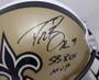 Drew Brees Autographed Full Size Helmet - New Orleans Saints Gold Replica Riddell  Super Bowl MVP Beckett BAS