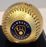 Milwaukee Brewers 50th Season 3-Ball Set with Display Case