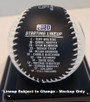Colorado Rockies 2020 Opening Day Baseball With Display Case