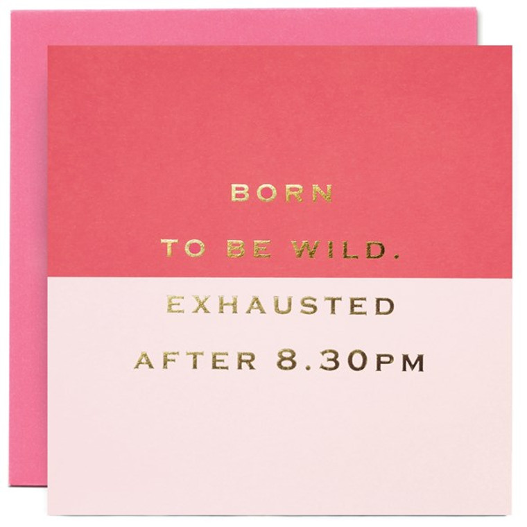 Born to be Wild Greetings Card