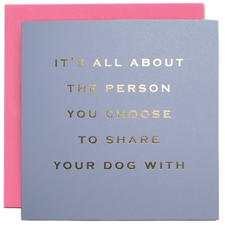 The Person You Share Greetings Card