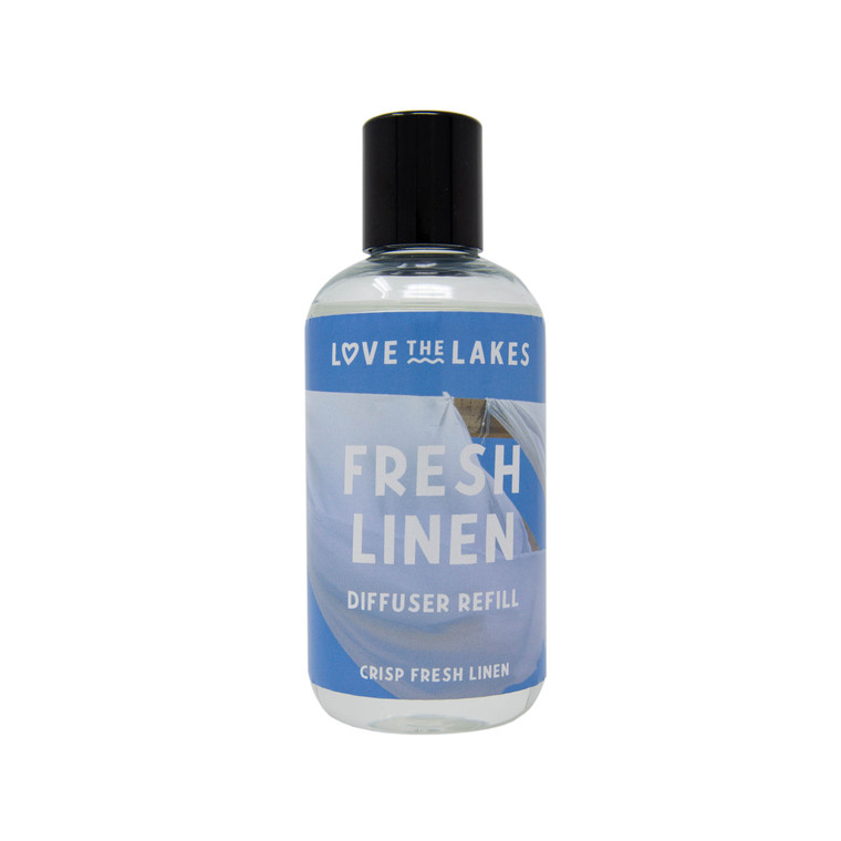 Love the Lakes Fresh Linen 200ml Reed Diffuser Refill