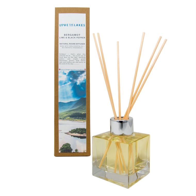 Love the Lakes Bergamot, Lime and Black Pepper Reed Diffuser