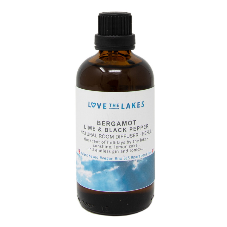Love the Lakes Bergamot, Lime and Black Pepper Reed Diffuser Refill