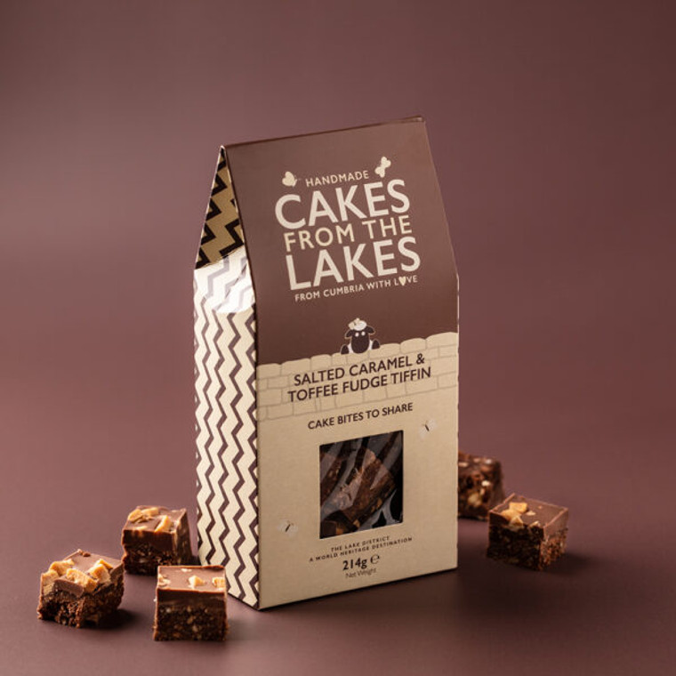 Cakes from The Lakes Salted Caramel & Toffee Fudge Tiffin
