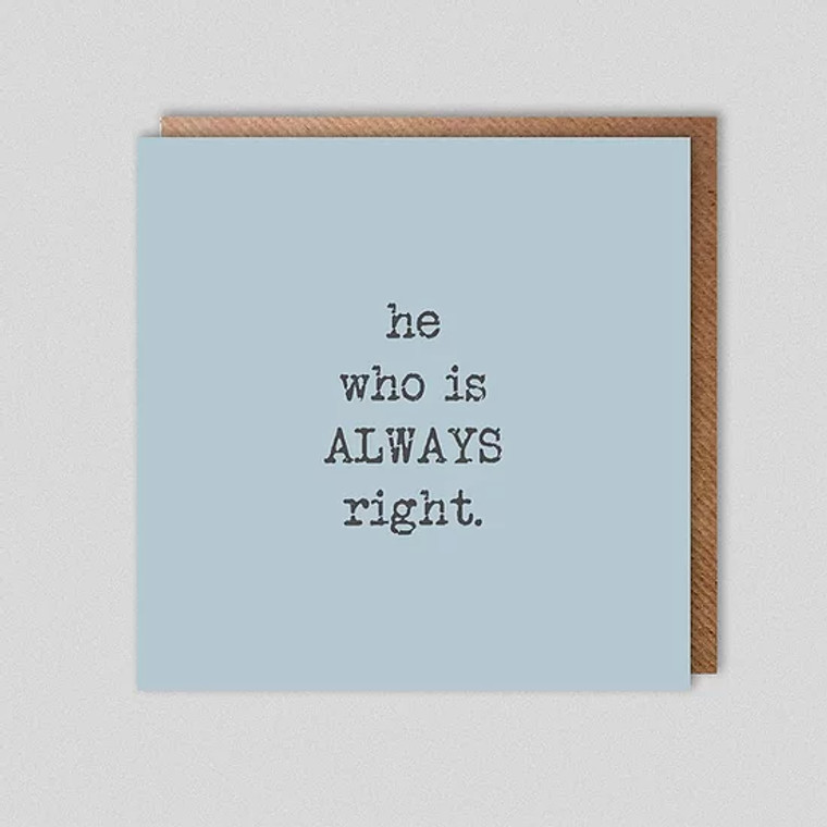 Dolly & Doug He Who Is Always Right Card