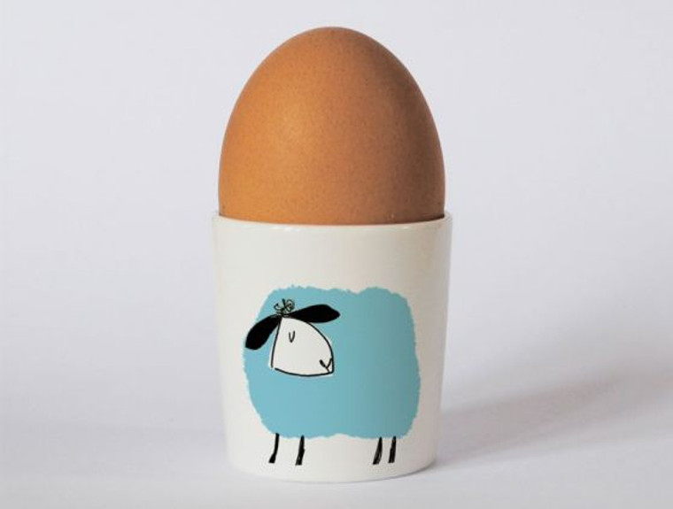 Happiness Is Being In The Lake District Sheep Egg Cup Blue