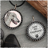Greyhound Reversible Circular Pendant