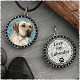 Yellow Labrador Reversible Circular Pendant