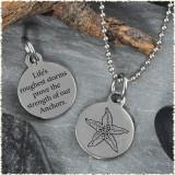 Starfish Reversible Stainless Steel Pendant