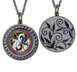 "Dragon Circular Reversible Vintage ""Leaf"" Pendant"
