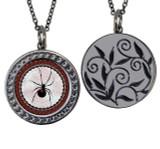 "Spider Circular Reversible Vintage ""Leaf"" Pendant"