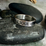 Gypsy Soul Stainless Quote Ring