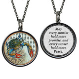 Carded Crab Reversible Medium Circle Necklace