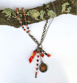 Boho Multi Strand Toggle Gemstone Necklace