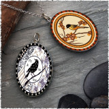 Robin Reversible Silver Oval Pendant