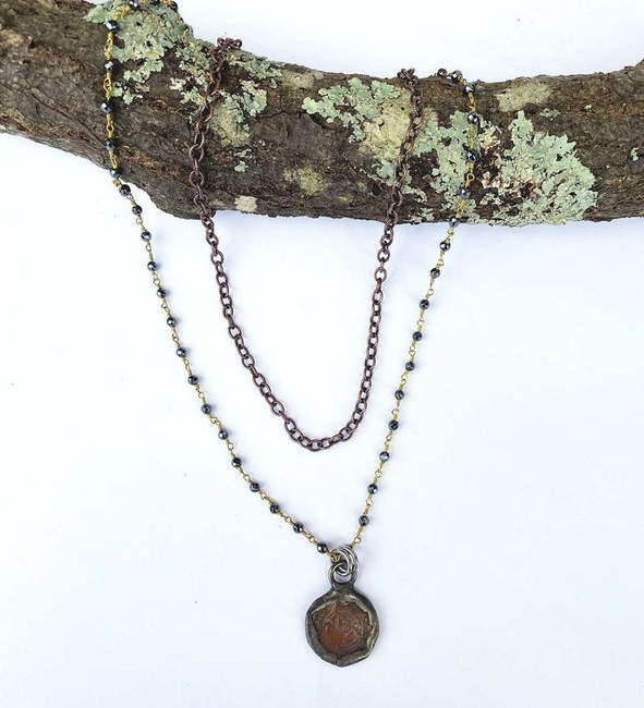 Double Strand Sm Coin Necklace