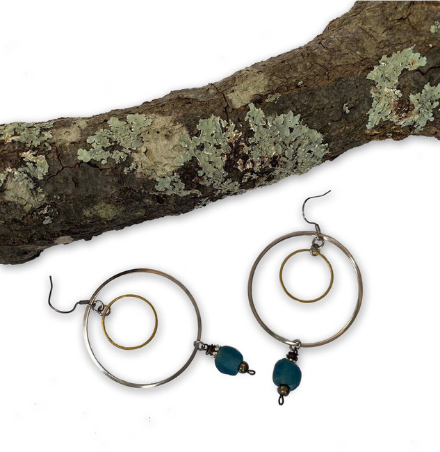Recycled Glass Earring