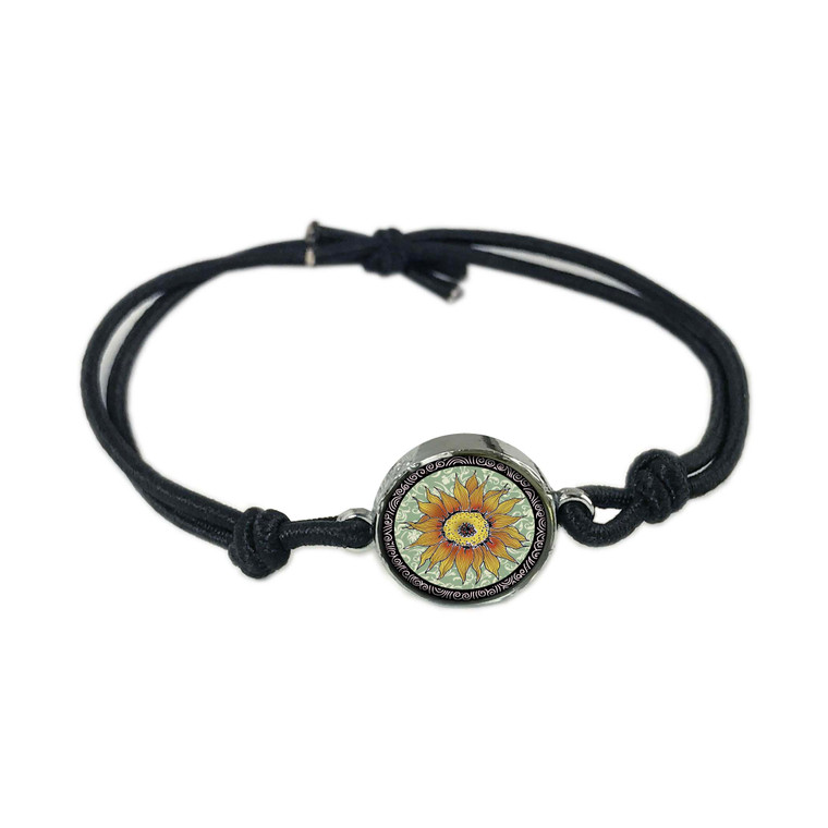 Sunflower Green Reversible Stretch Bracelet