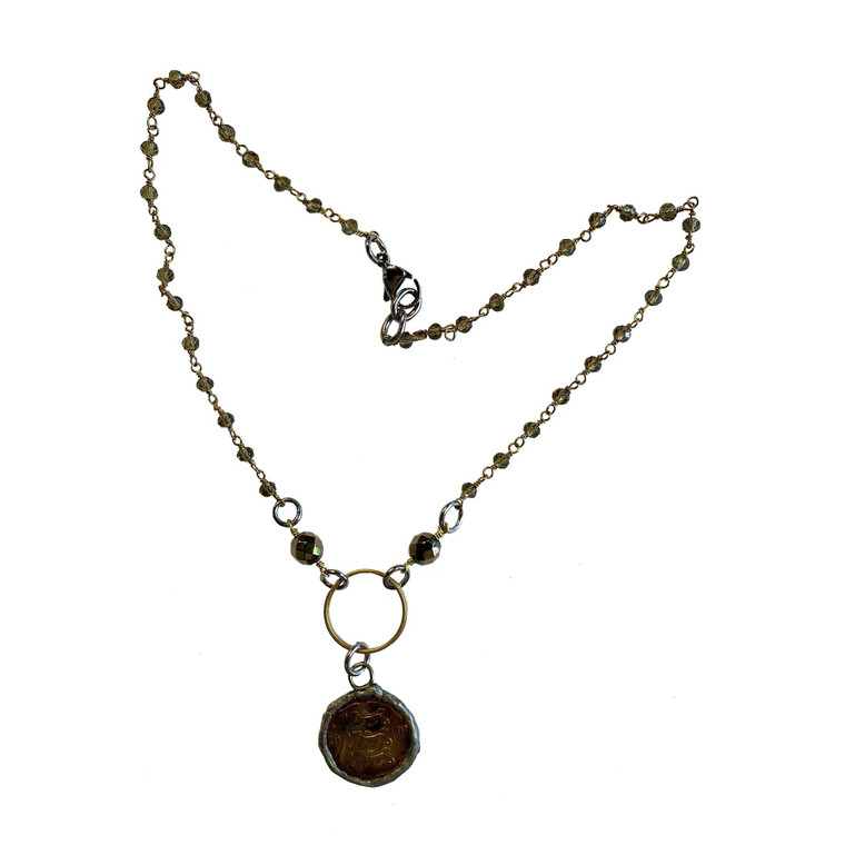 Simple & Sweet Soldered Coin Necklace