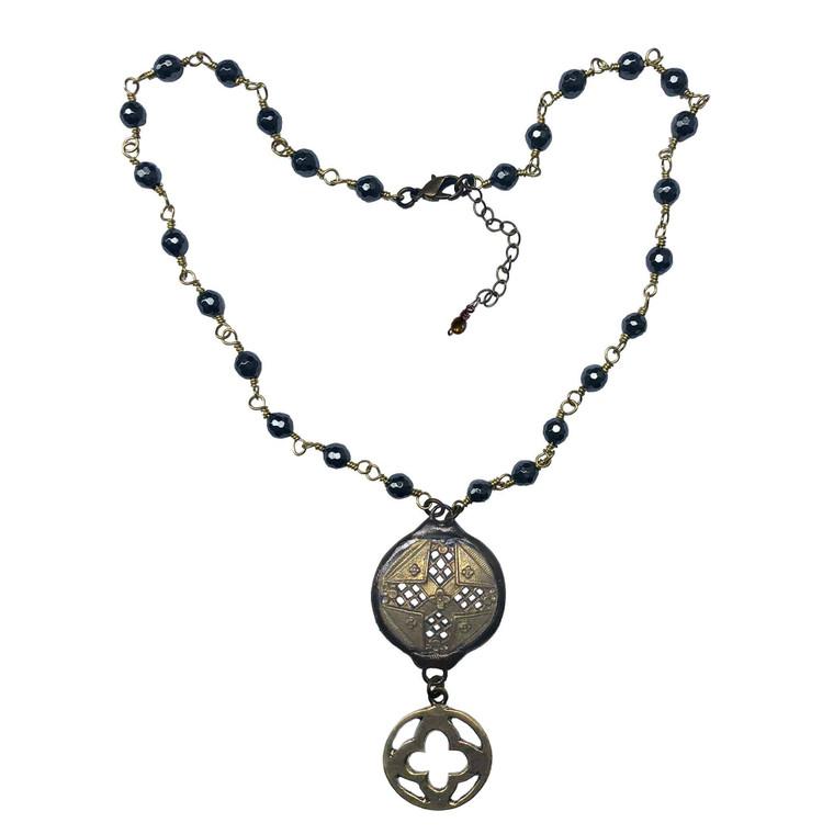Med. Soldered Coin Drop Necklace