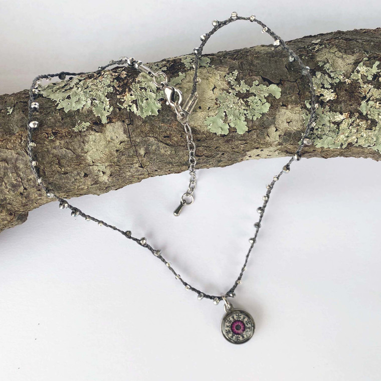 Crochet Corded Necklace Mandala Wanderer
