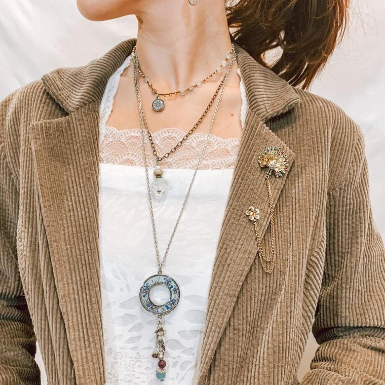 Crochet Corded Necklace Mandala Enjoy Life