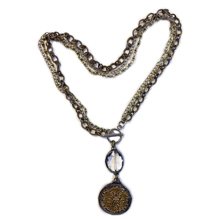 Multi Strand Toggle Soldered Cry Necklace