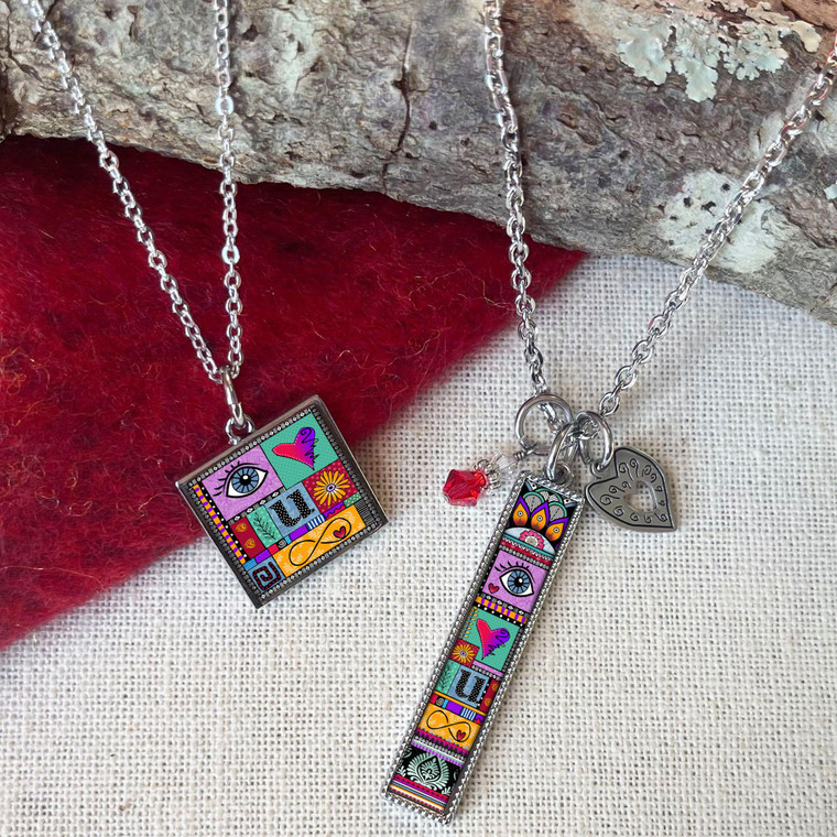 I Love You to Infinity Rectangle Necklace
