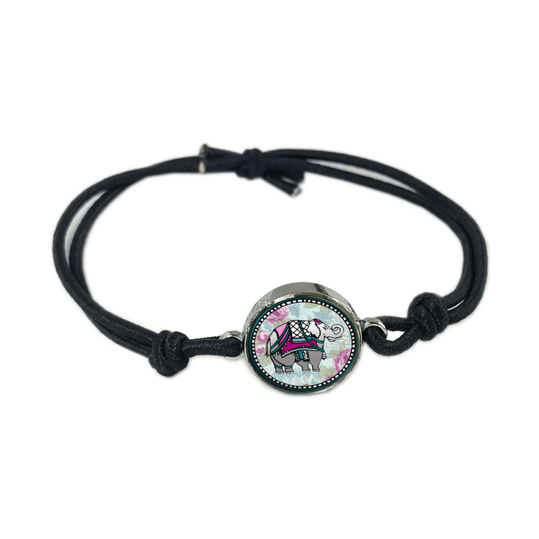 Elephant  Reversible Stretch Bracelet