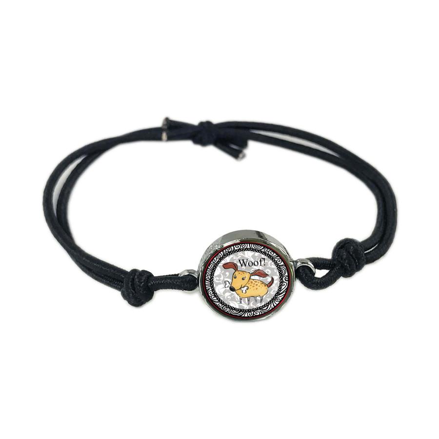 Dog Reversible Stretch Bracelet