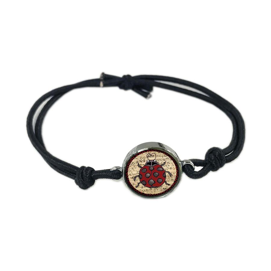 Ladybug Music Reversible Stretch Bracelet