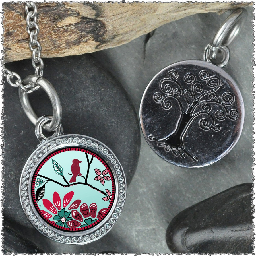 "Bird Flower ""Tree"" Pendant"