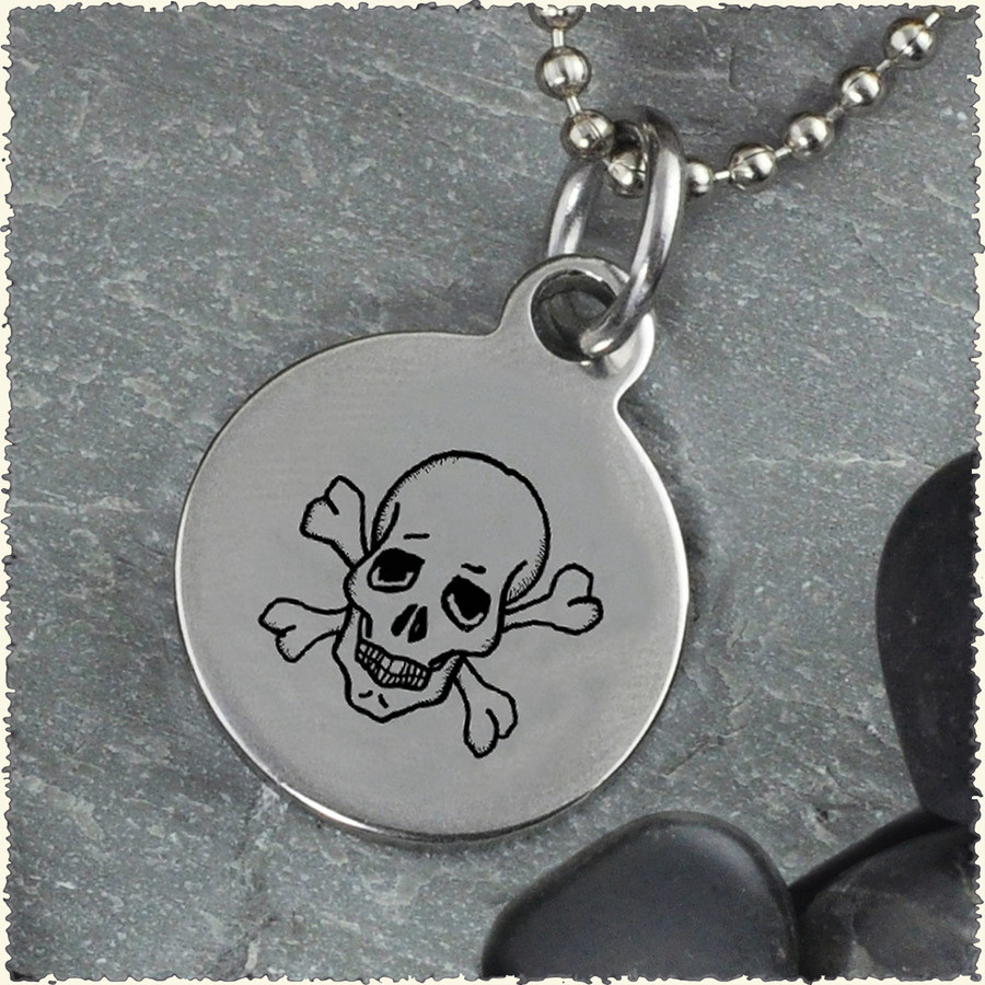 Skull Reversible Stainless Steel Pendant